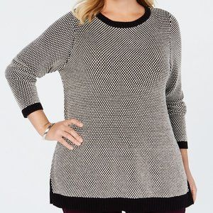 Charter Club Plus Size Graphic Knit Tunic Top